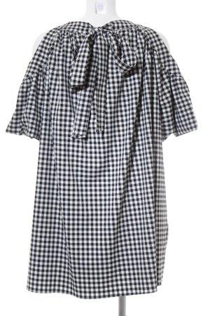Zara Trafaluc A-Linien Kleid weiß-schwarz Karomuster 60ies-Stil