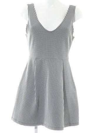 Zara Trafaluc A-Linien Kleid weiß-schwarz Streifenmuster Casual-Look