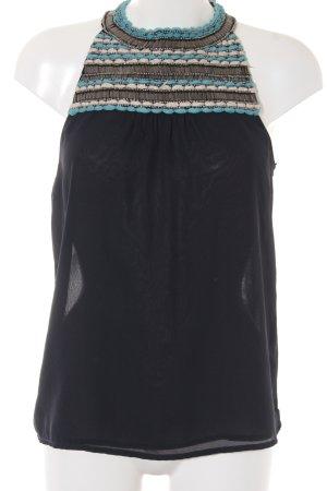 Zara Trafaluc ärmellose Bluse dunkelblau Casual-Look