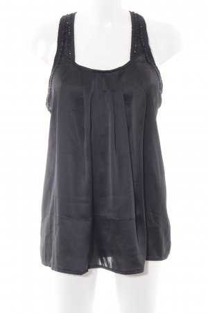 Zara Trafaluc ärmellose Bluse schwarz Boho-Look