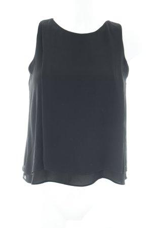 Zara Trafaluc ärmellose Bluse schwarz Business-Look
