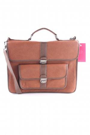 Zara Trafaluc Porte-documents marron clair-cognac style d'affaires