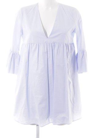 Zara Trafaluc Vestido babydoll azul celeste estilo clásico