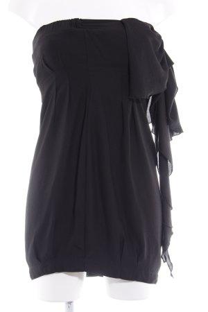 Zara Trafaluc Bandeaukleid schwarz Elegant