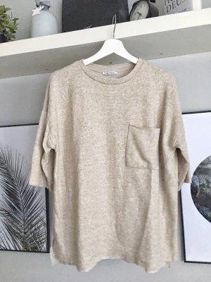 Zara Trafaluc Oversized Shirt cream-beige