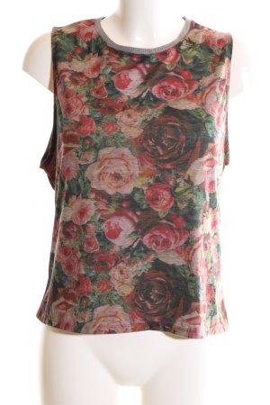 Zara Trafaluc Basic Top flower pattern casual look