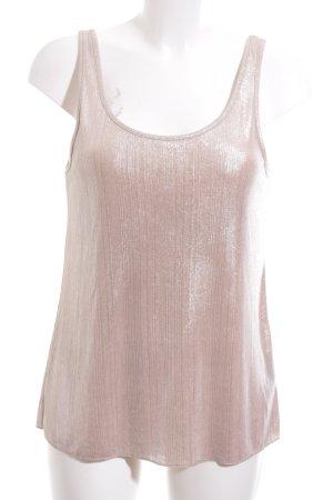 Zara Trafaluc Basic Top nude-silberfarben Casual-Look