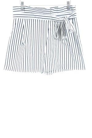 Zara Trafaluc Bermuda weiß-dunkelblau Streifenmuster Casual-Look
