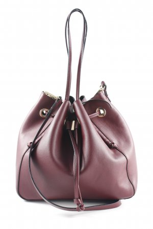 Zara Trafaluc Pouch Bag bordeaux casual look