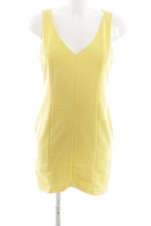Zara Trafaluc Robe crayon jaune primevère style décontracté