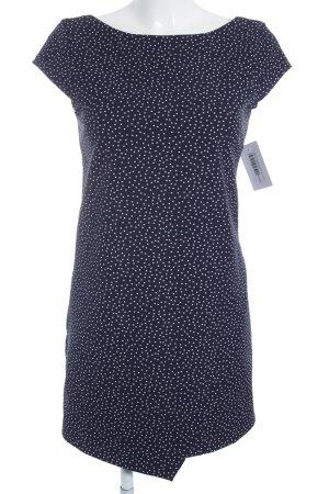 Zara Trafaluc Kokerjurk blauw-wolwit gestippeld patroon elegant