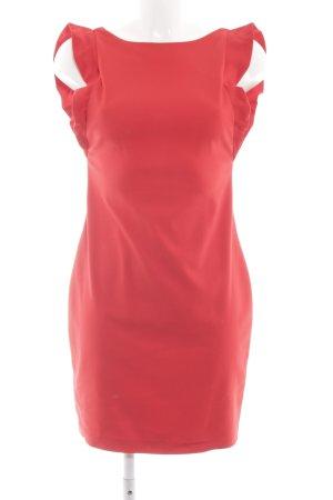 Zara Trafaluc Robe crayon rouge élégant