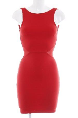 Zara Trafaluc Robe crayon rouge fluo élégant