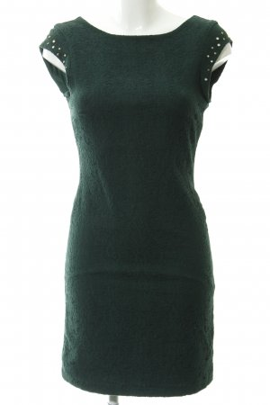 5ea8786277d Zara Trafaluc Pencil Dress forest green embellished pattern party style