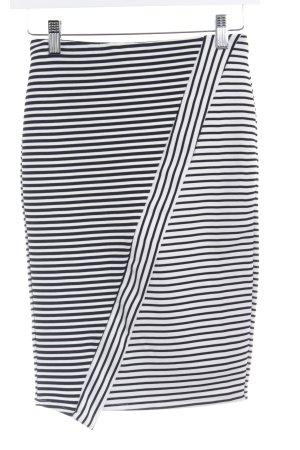Zara Trafaluc Bleistiftrock schwarz-weiß Streifenmuster Business-Look