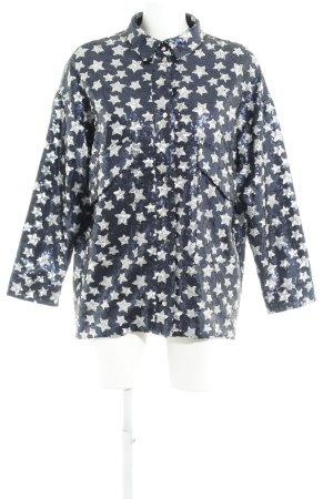 Zara Trafaluc Blouson dunkelblau-silberfarben Sternenmuster extravaganter Stil