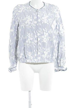Zara Trafaluc Blouson weiß-blau Blumenmuster Romantik-Look