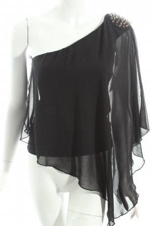 Zara Trafaluc Bluse schwarz Casual-Look