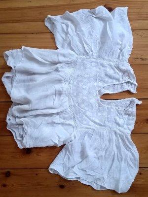 Zara Trafaluc Blouse met korte mouwen wit Modal