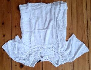 Zara Trafaluc Blouse met korte mouwen wit Polyester
