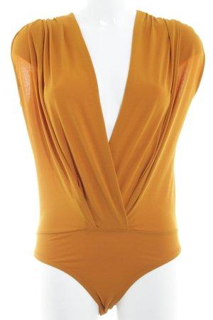 Zara Trafaluc Bodyblouse donker oranje simpele stijl