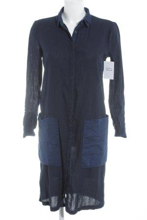 Zara Trafaluc Blusenkleid dunkelblau Jeans-Optik