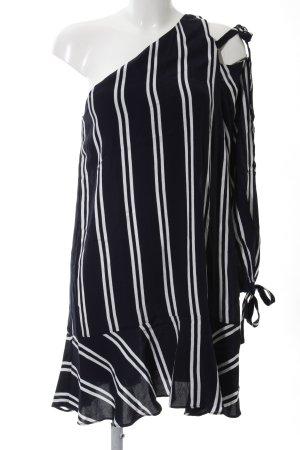 Zara Trafaluc Blouse Dress dark blue-natural white casual look