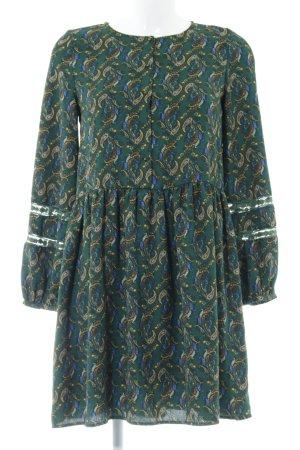 Zara Trafaluc Blusenkleid florales Muster extravaganter Stil