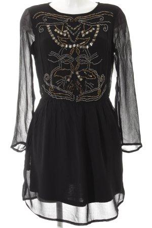 Zara Trafaluc Blusenkleid Ornamentenmuster Elegant