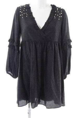 Zara Trafaluc Robe chemisier noir tissu mixte