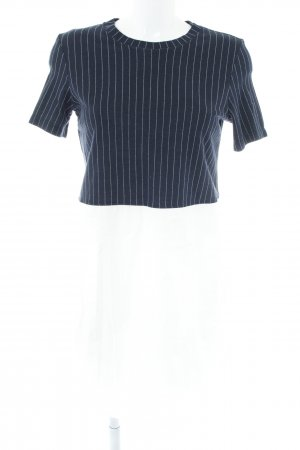 Zara Trafaluc Blusenkleid weiß-dunkelblau Nadelstreifen Casual-Look