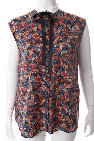Zara Trafaluc Blusentop Blumenmuster Schleifen-Detail