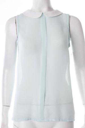 Zara Trafaluc Blusentop mint-weiß Transparenz-Optik