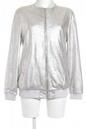Zara Trafaluc Bomber Jacket silver-colored casual look
