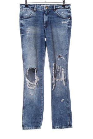 Zara Trafaluc Jeans boyfriend blu stile casual
