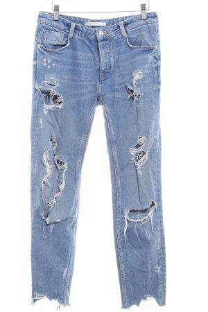 Zara Trafaluc Boyfriend Jeans azure