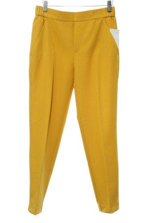 Zara Trafaluc Pantalon à pinces jaune foncé style décontracté