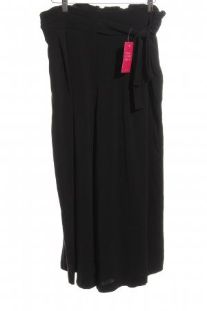 Zara Trafaluc Bandplooibroek zwart casual uitstraling