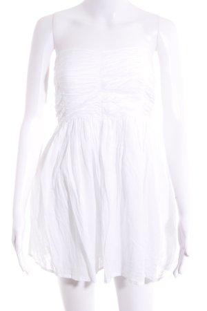 Zara Trafaluc Vestido bustier blanco puro elegante