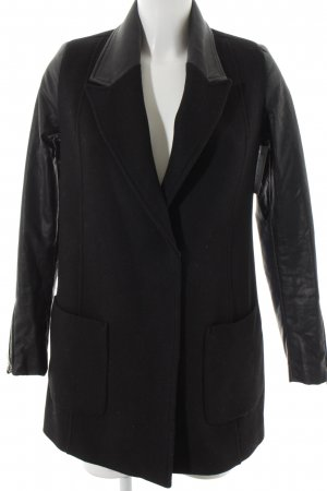Zara Trafaluc Pea Jacket black casual look