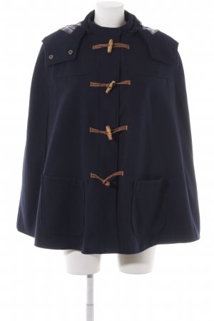 Zara Trafaluc Cape dark blue street-fashion look