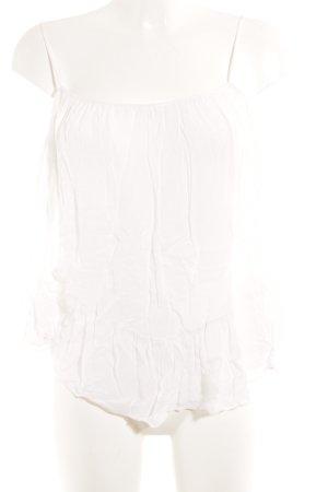 Zara Trafaluc Carmen-Bluse weiß Casual-Look