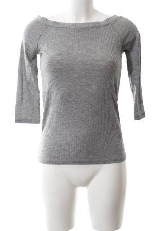 Zara Trafaluc Carmen shirt grijs casual uitstraling