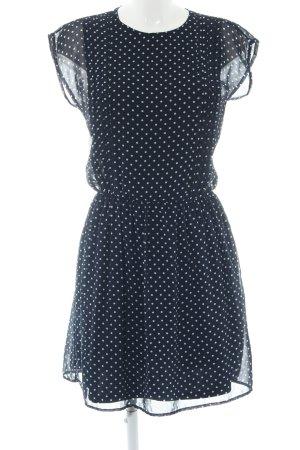Zara Trafaluc Chiffon jurk blauw-wit gestippeld patroon elegant