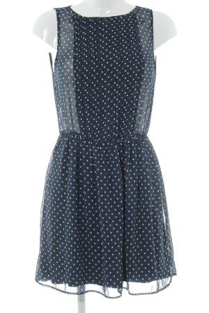 Zara Trafaluc Chiffonkleid dunkelblau-hellgrau Punktemuster Elegant