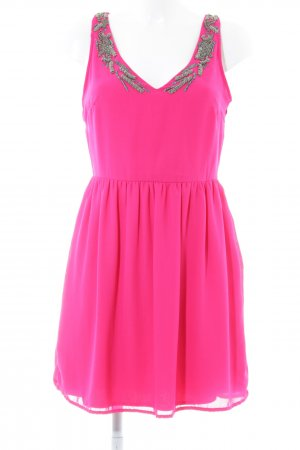 Zara Trafaluc Robe chiffon rose style festif