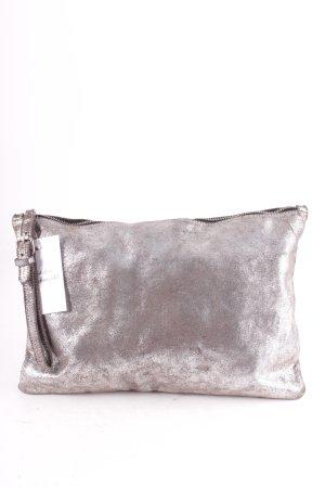 Zara Trafaluc Clutch silberfarben Elegant