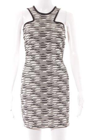 Zara Trafaluc Cocktailkleid weiß-schwarz abstraktes Muster Elegant