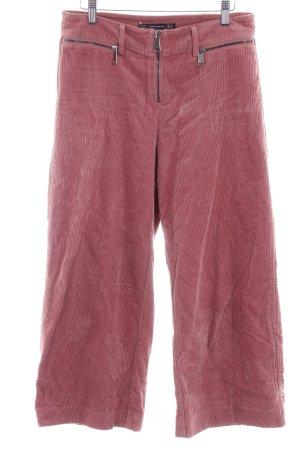 Zara Trafaluc Pantalone di velluto a coste rosso scuro stile casual