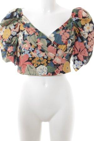 Zara Trafaluc Cropped Shirt florales Muster Romantik-Look